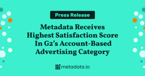 G2 Summer 2021 - Metadata - Account-Based Advertising Leader